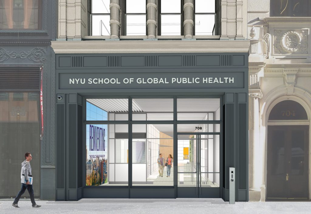 Entryway at New York University School of Public Health - Kliment Halsband Architects