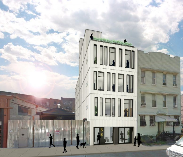 Rendering of 58 Grattan Street in Bushwick