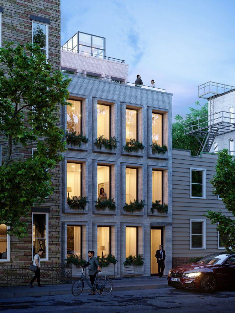Rendering of 78 Eagle Street - Charles Diehl Architect