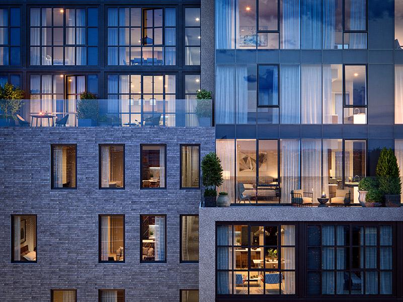 GALERIE Exterior Rendering - Binyan Studios
