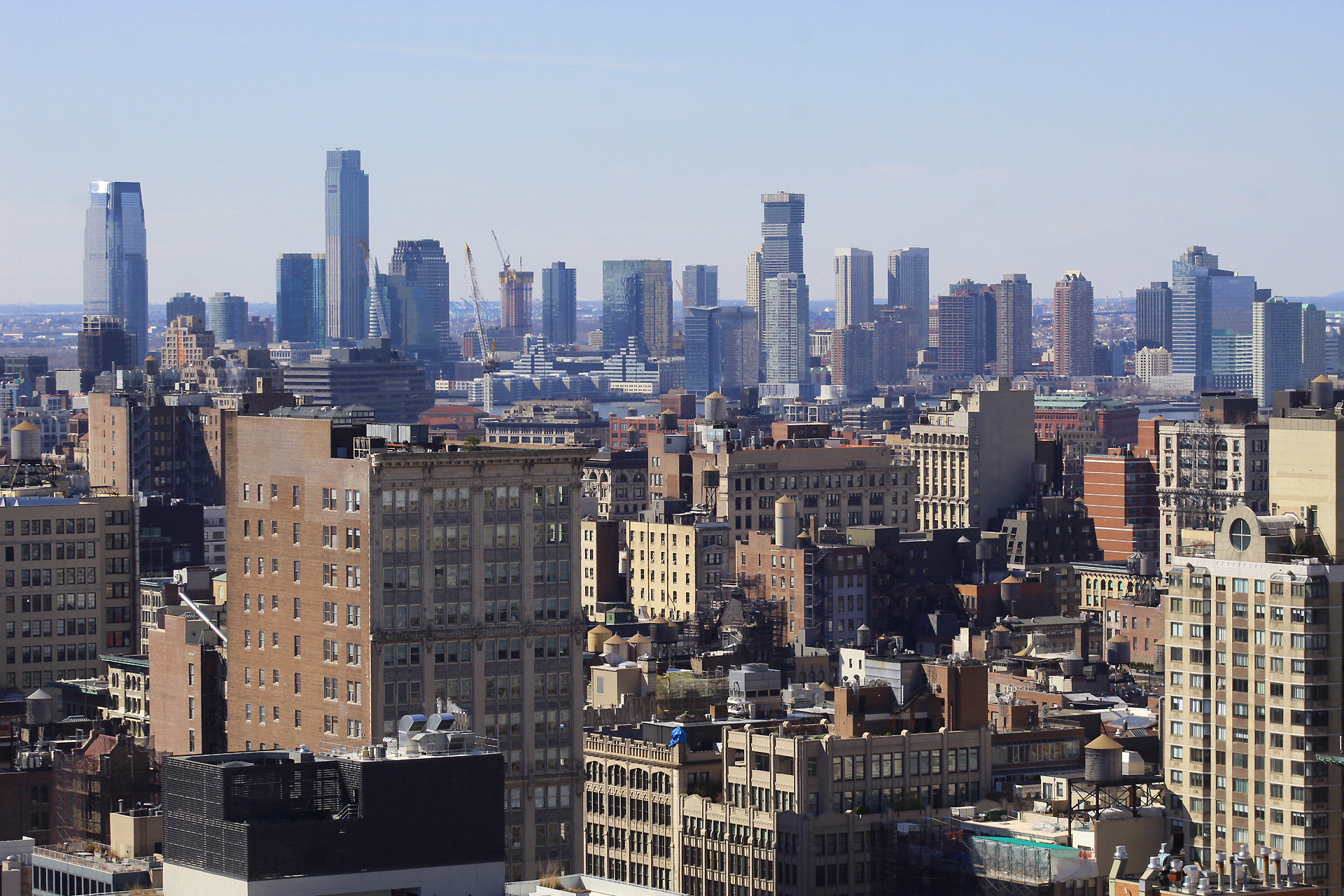 Jersey City in the background, photo by Michael Young