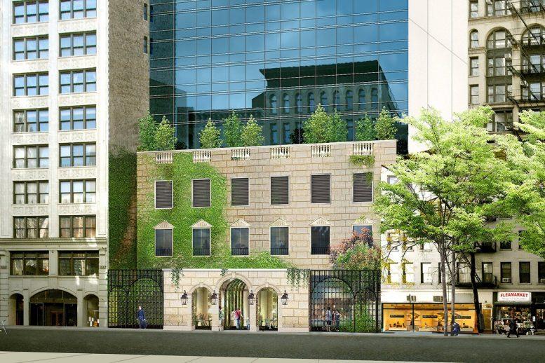Rendering of the Renaissance New York Chelsea Hotel's ground floor entryway