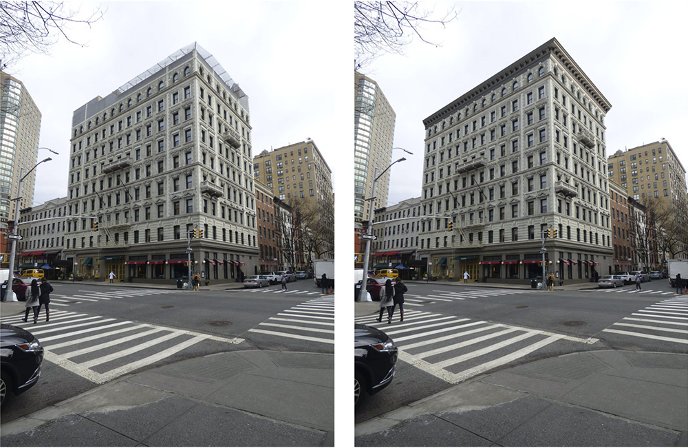 Existing building (left) and proposed building altercations (left) - Form4 Design Studio