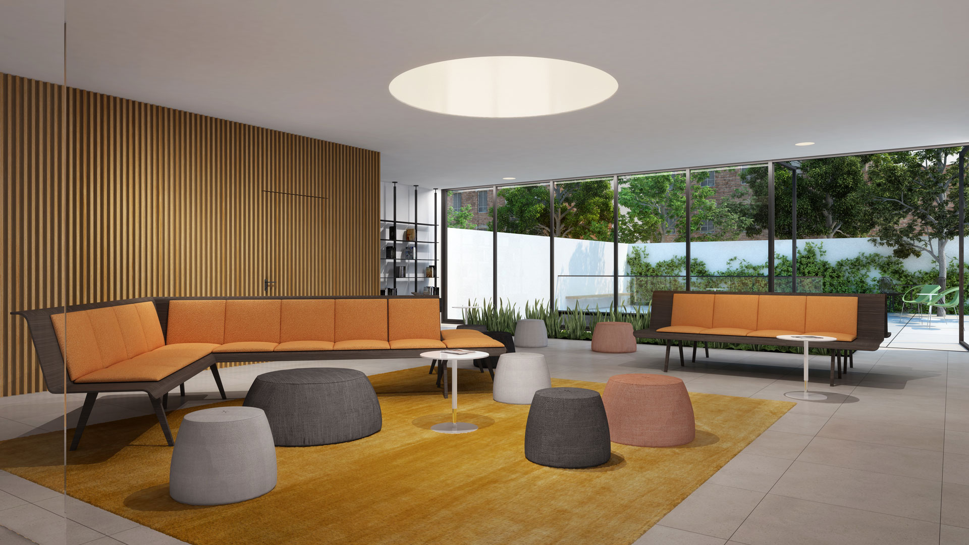 Rendering of lobby spaces at 1458-1466 Flatbush Ave - Bar Orian
