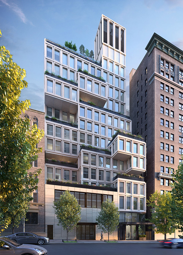Rendering of 212 West 93rd Street - ODA