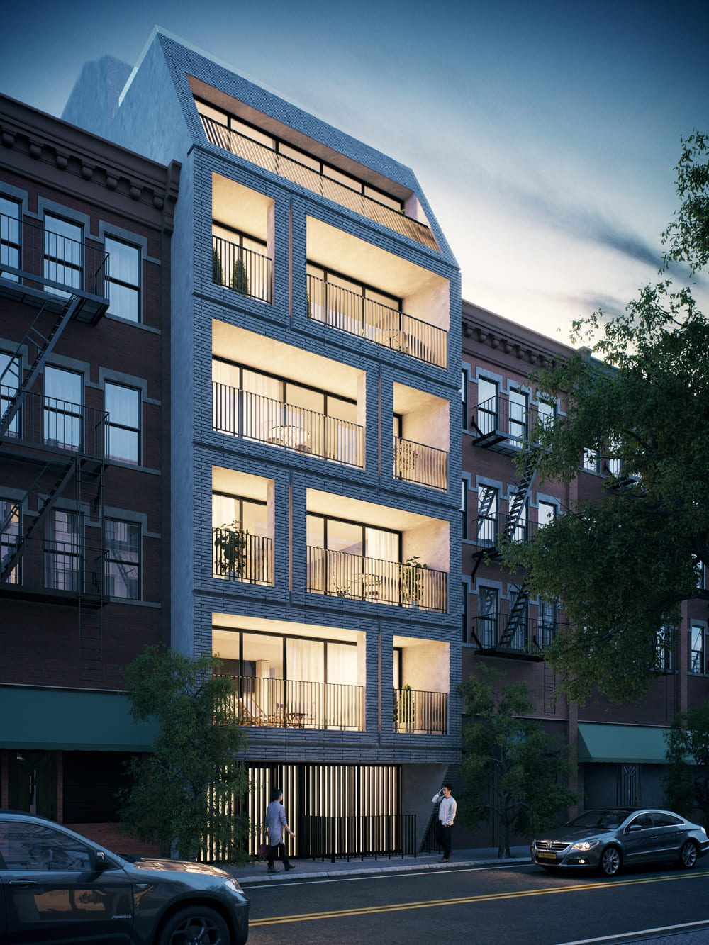 Rendering of 217 Franklin Street - INOA Architecture