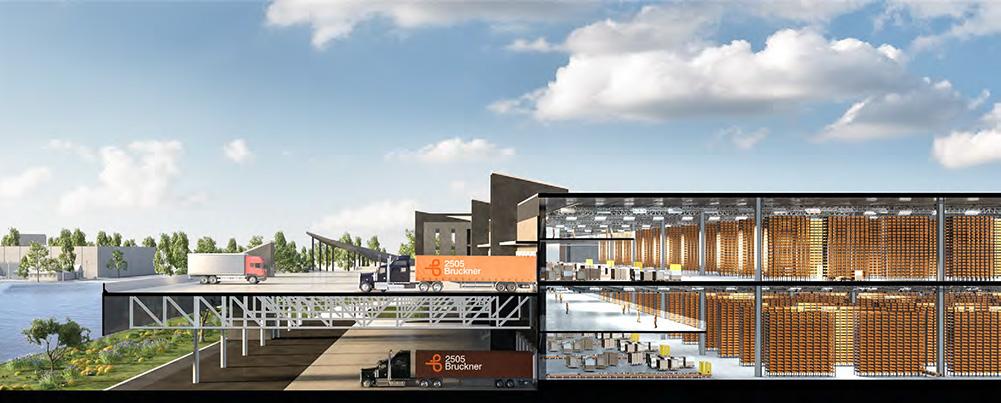 Section diagram of 2505 Bruckner Boulevard - Design by KSS Architects