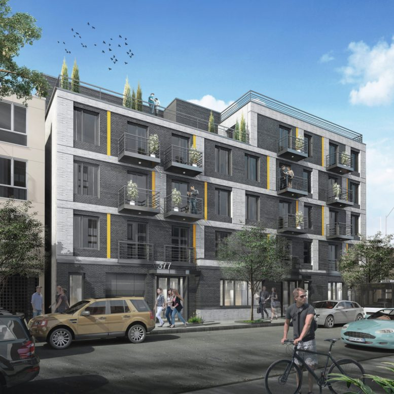 Rending of 377-383 Harman Street - J Frankl Associates