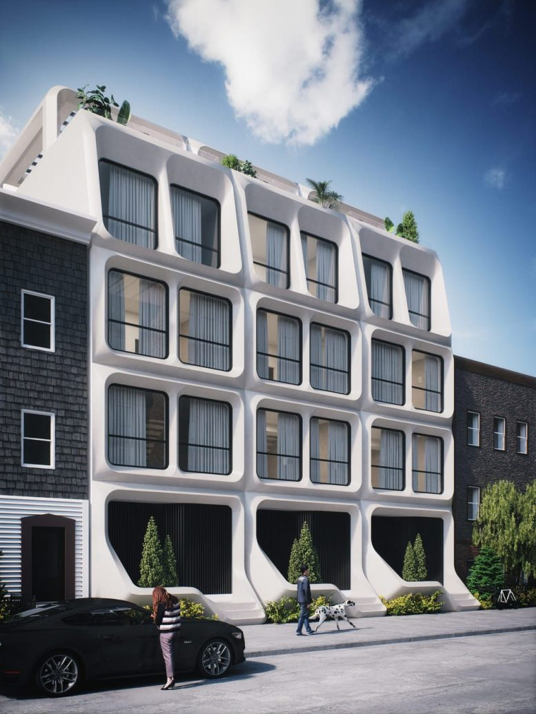Rendering of 74-76 South 2nd Street - INOA Architecture