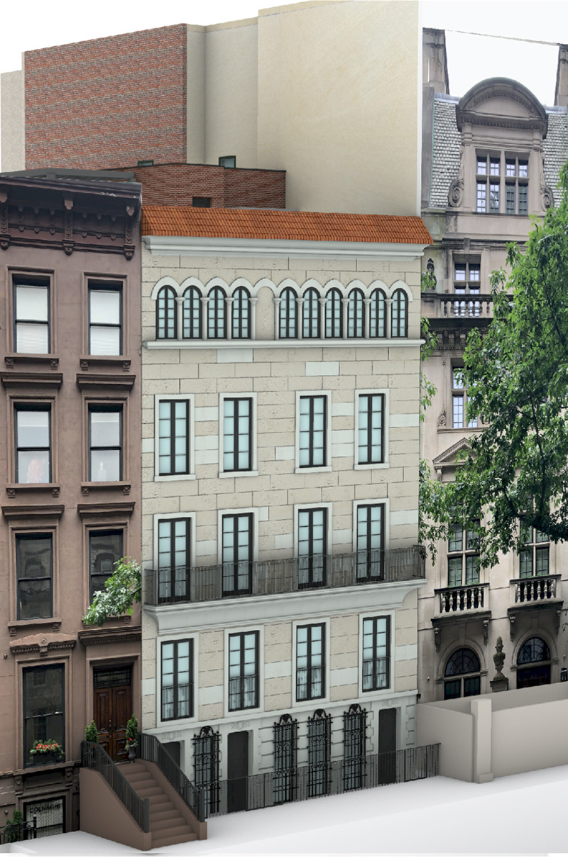 Rendering of 34 East 70th Street - J.L. Ramirez Architect