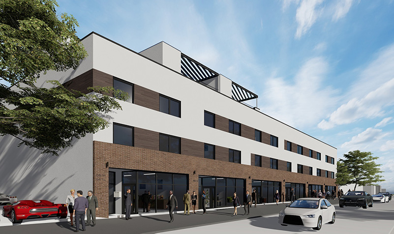 Rendering of 106-02 Astoria Blvd - Node Architecture Engineering Consulting