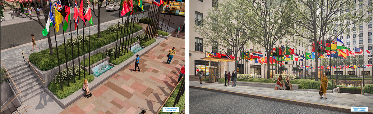 Rendering of expanded seating areas - Tishman Speyer; Gabellini Sheppard Associates