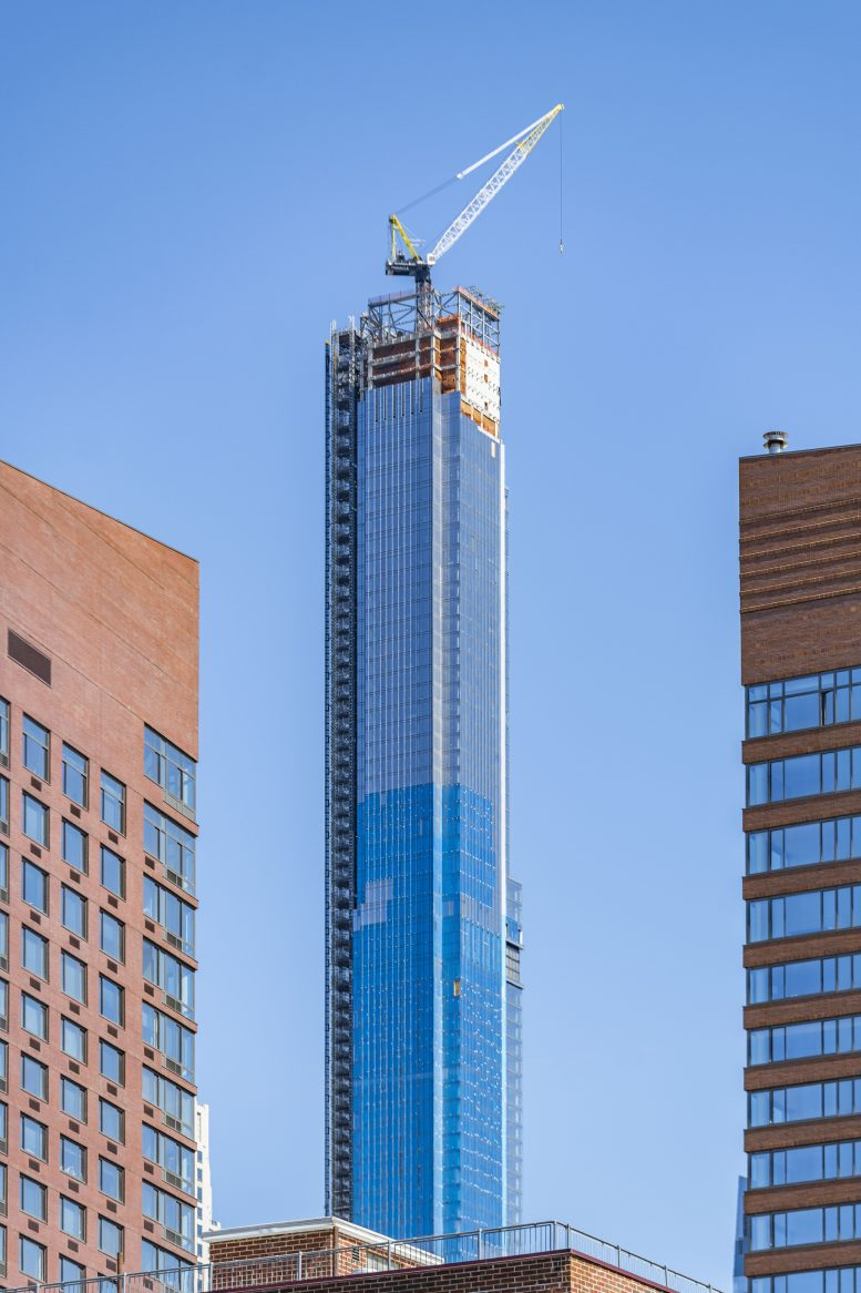 Central Park Tower S Glass Curtain Wall Approaches Its