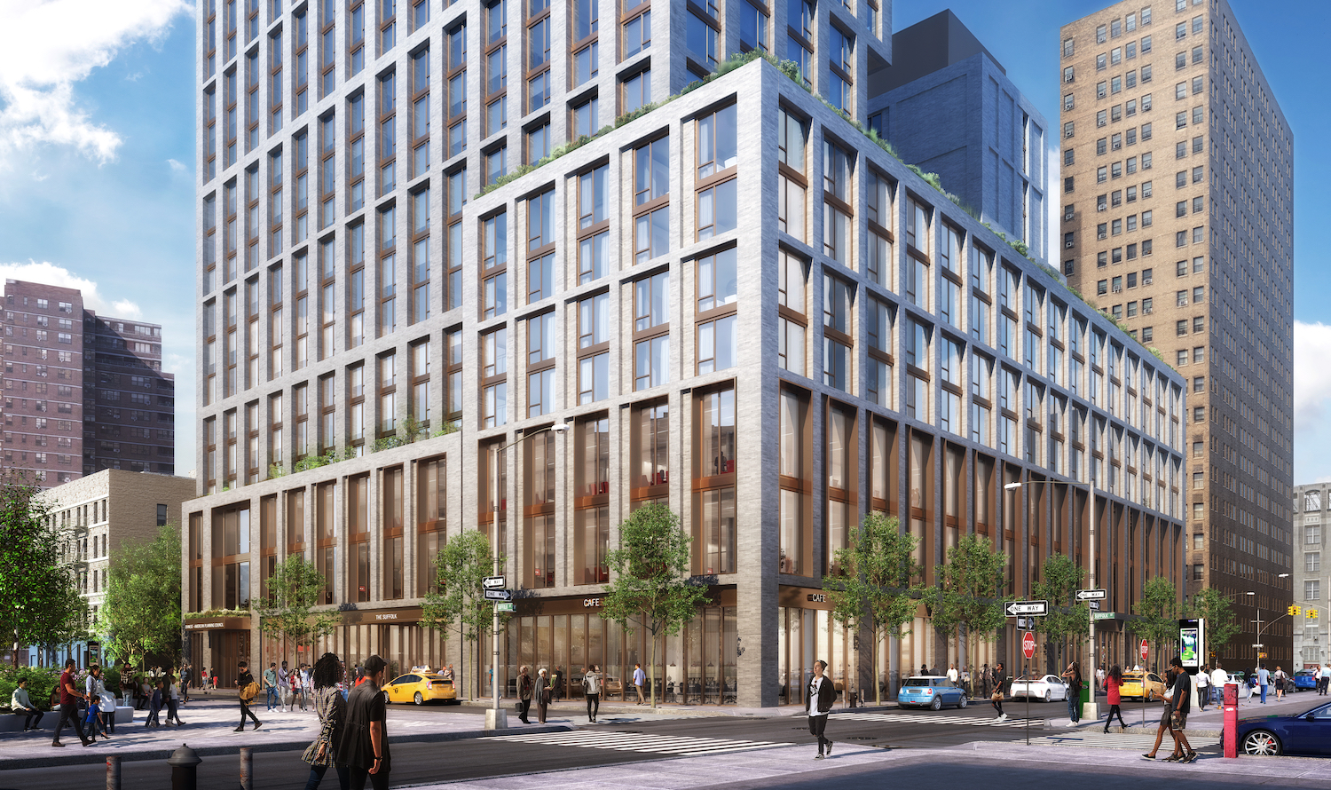 Rendering of Street View for Broome Street Development