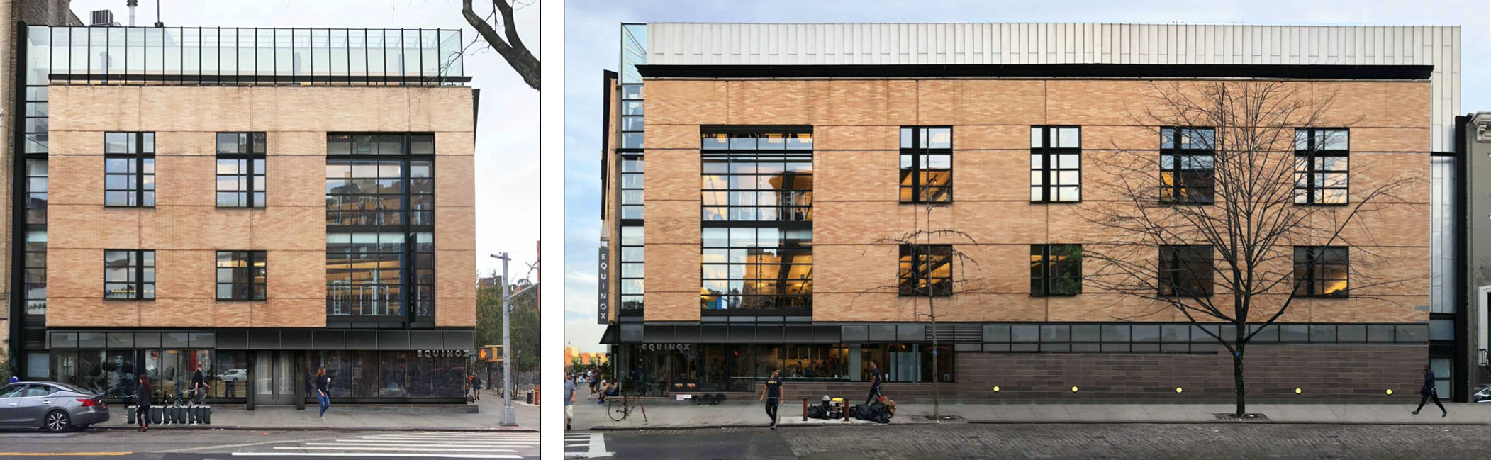 North elevation (left) and east elevation (right) at 97 Greenwich Avenue - SurfaceDesign