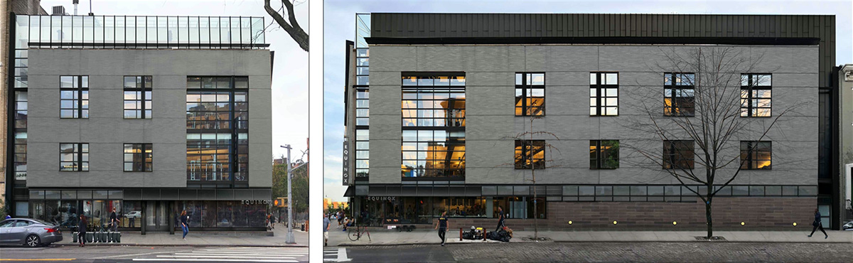 Proposed changes at 97 Greenwich Avenue; north elevation (left) and east elevation (right) - SurfaceDesign