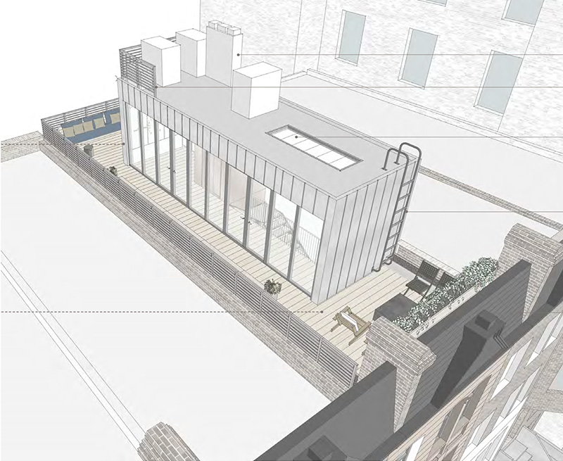 Proposed penthouse at 42 West 94th Street - Groves & Co