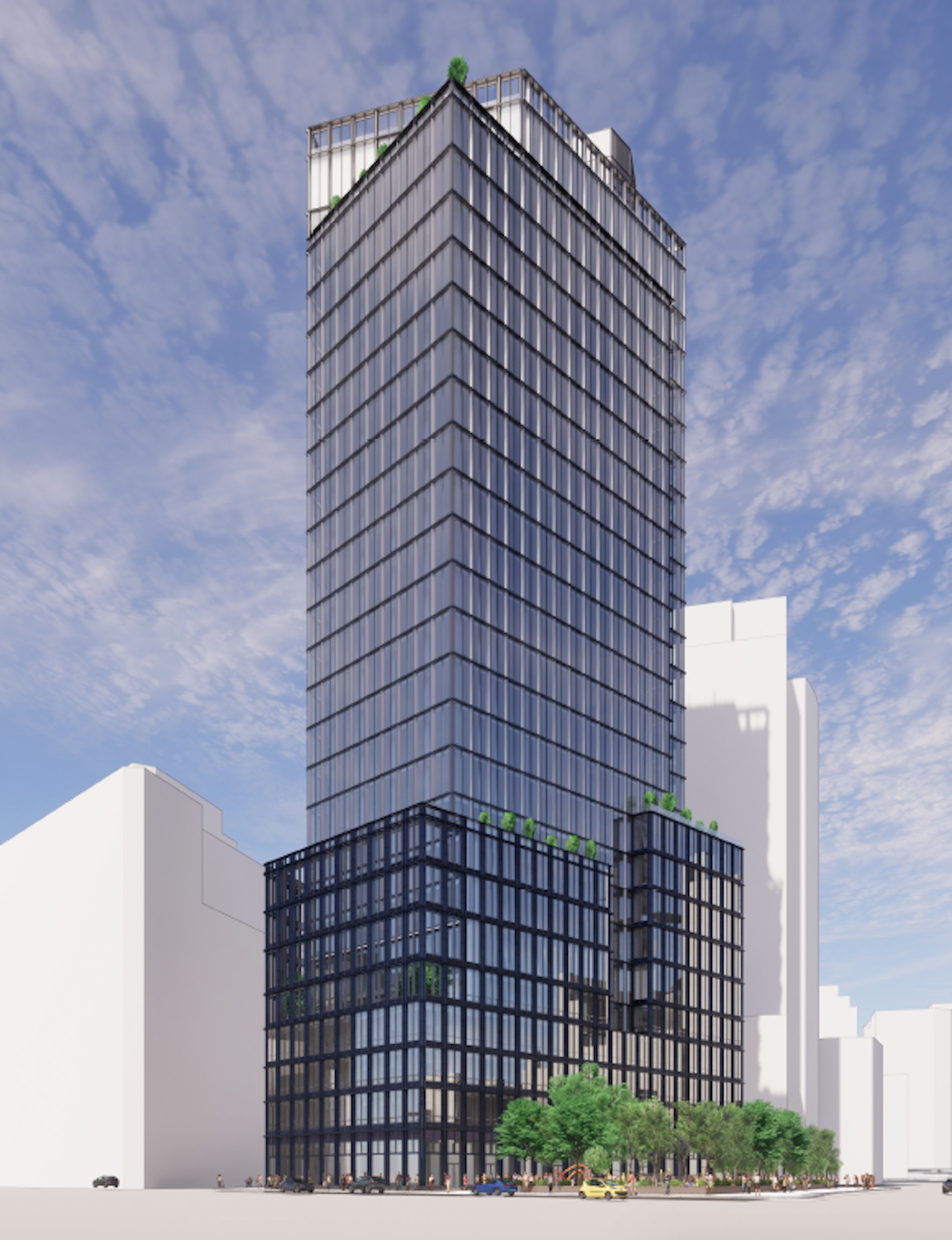 Rendering of 2 Hudson Square by SHoP Architects