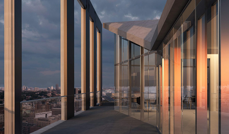 Rendering of Archer Towers Rooftop (Photo courtesy of Studio V Architecture)