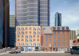 Rendering of South Street Seaport Museum via Skidmore, Owings & Merrill