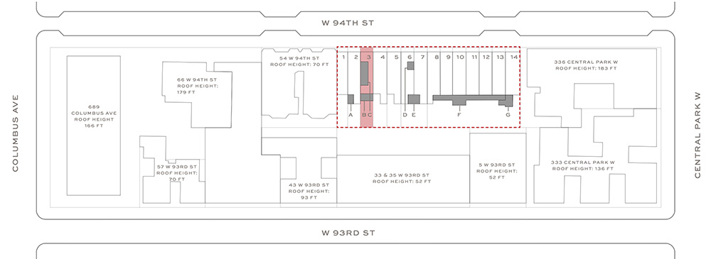 Site Plan at 42 West 94th Street - Groves & Co_