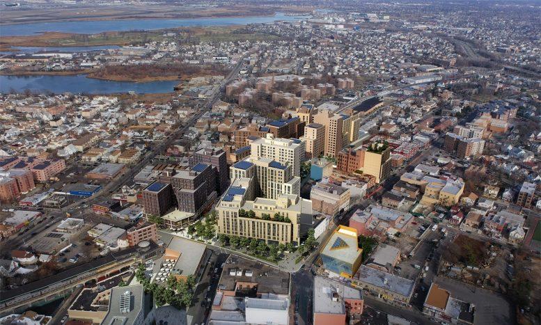 Rendering of Rockaway Village via Marvel Architects
