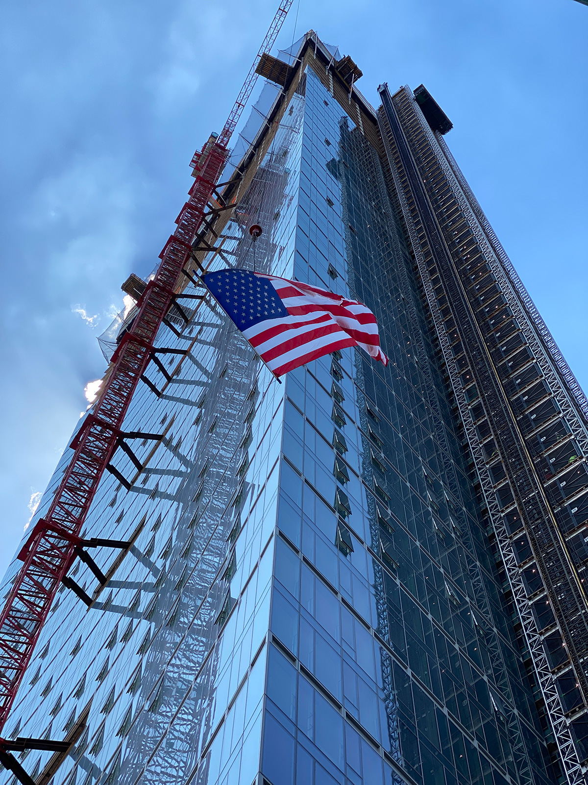 "Topped-out view of ""Sven"" at 29-37 41st Avenue - The Durst Organization'"