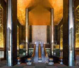 45 Rockefeller Plaza - Proposed east lobby and mezzanine looking west (Gabellini Sheppard Associates)
