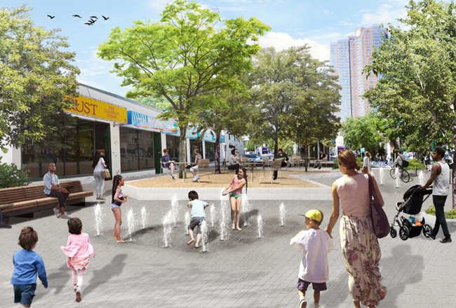 Rendering of Anderson Plaza - Wilder Balter Partners; L+M Development Partners