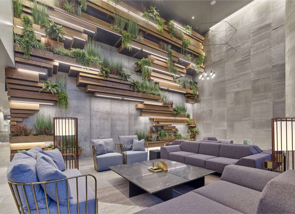 Lounge area at 7 Seventy House - Cahn Communications