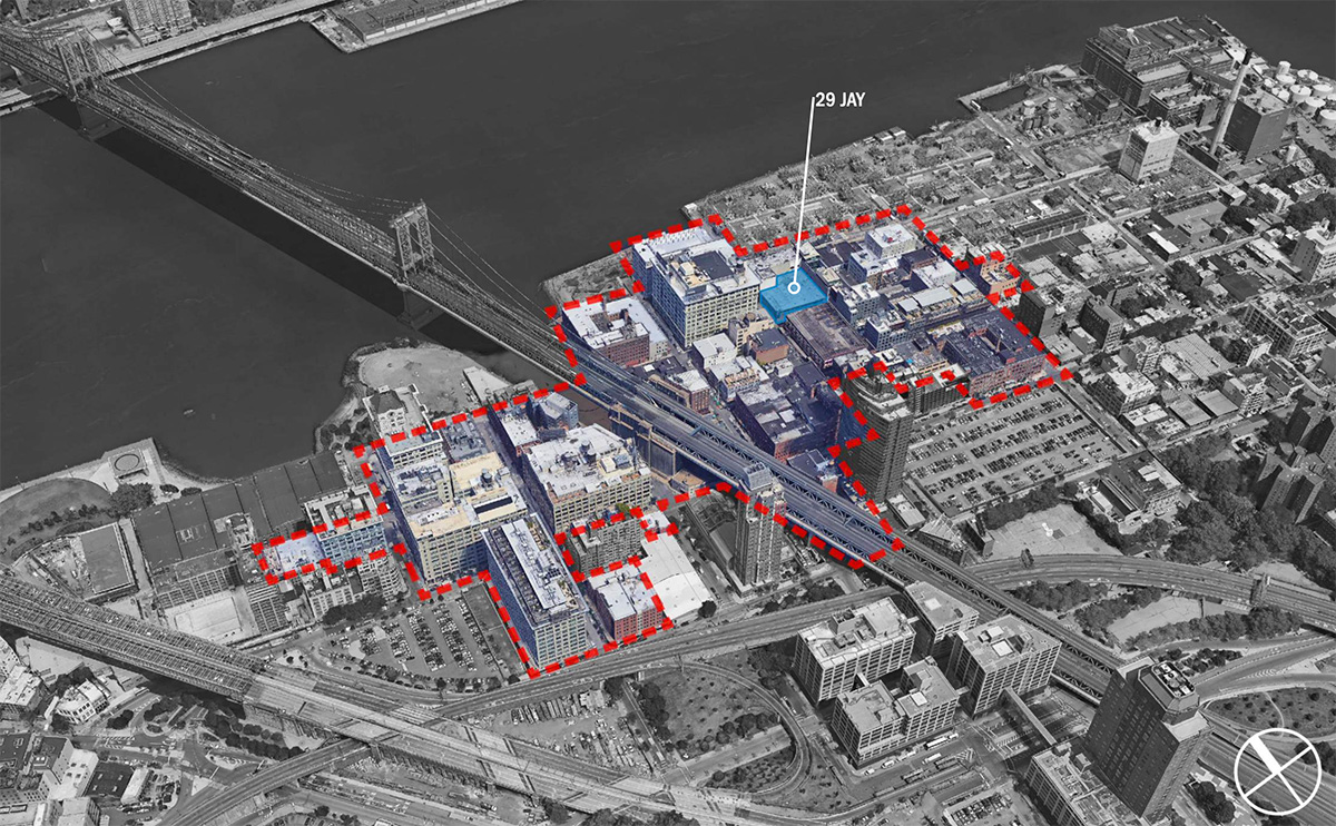 Map of the DUMBO Historic District and 29 Jay Street - Marvel Architects