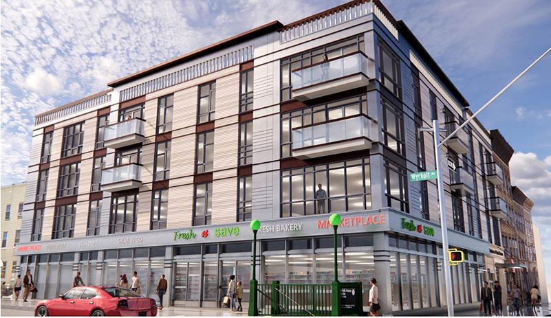 Rendering of 132 Wyckoff Avenue - Bricolage Architecture & Design