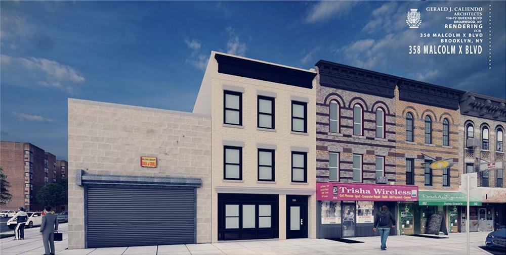 Rendering of 358 Malcolm X Blvd - Gerald J. Caliendo Architects