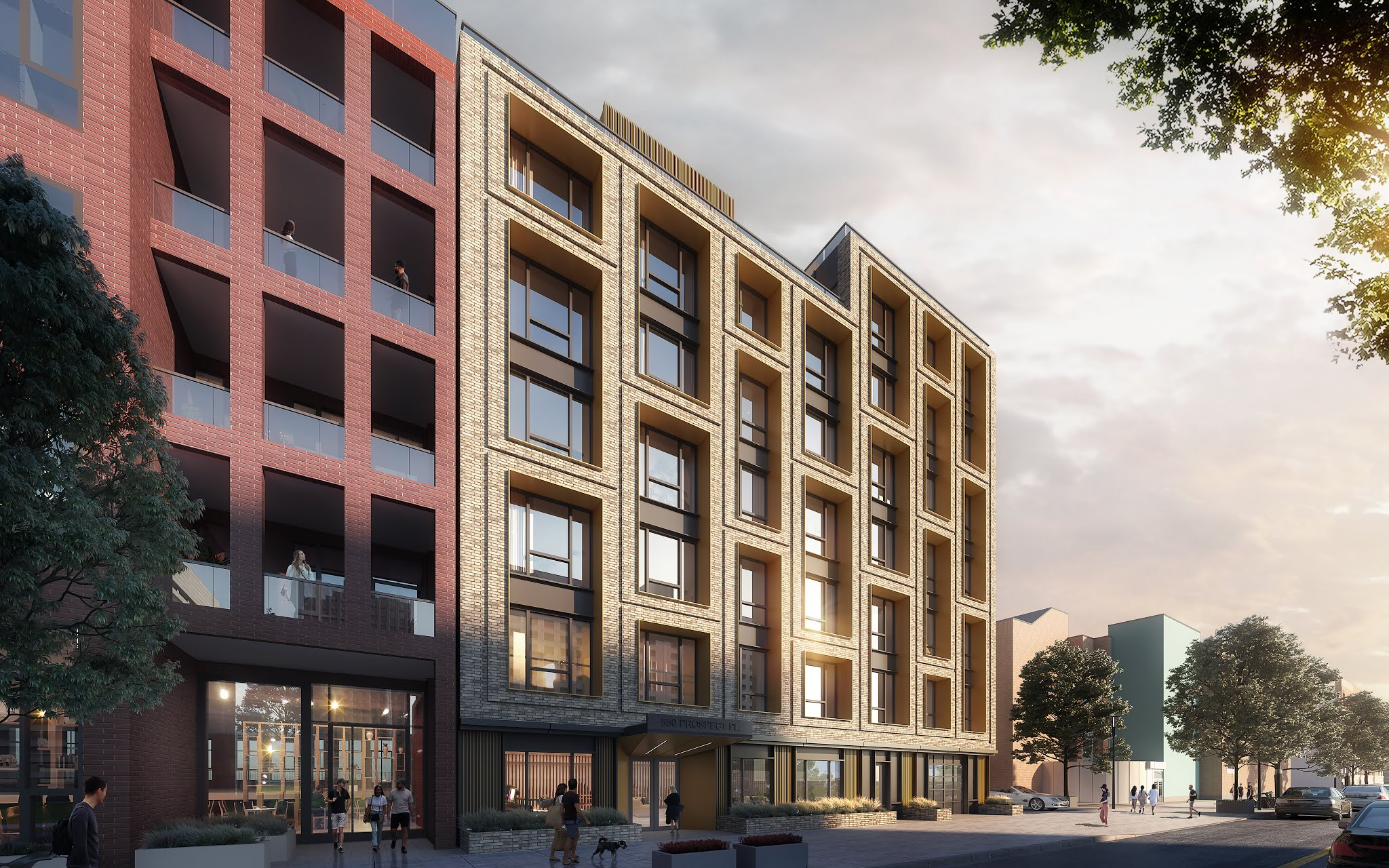 Rendering of 550 Prospect Place - IMC Architecture