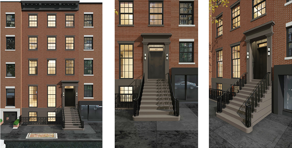 Rendering of proposed front elevation at 17 East 9th Street.