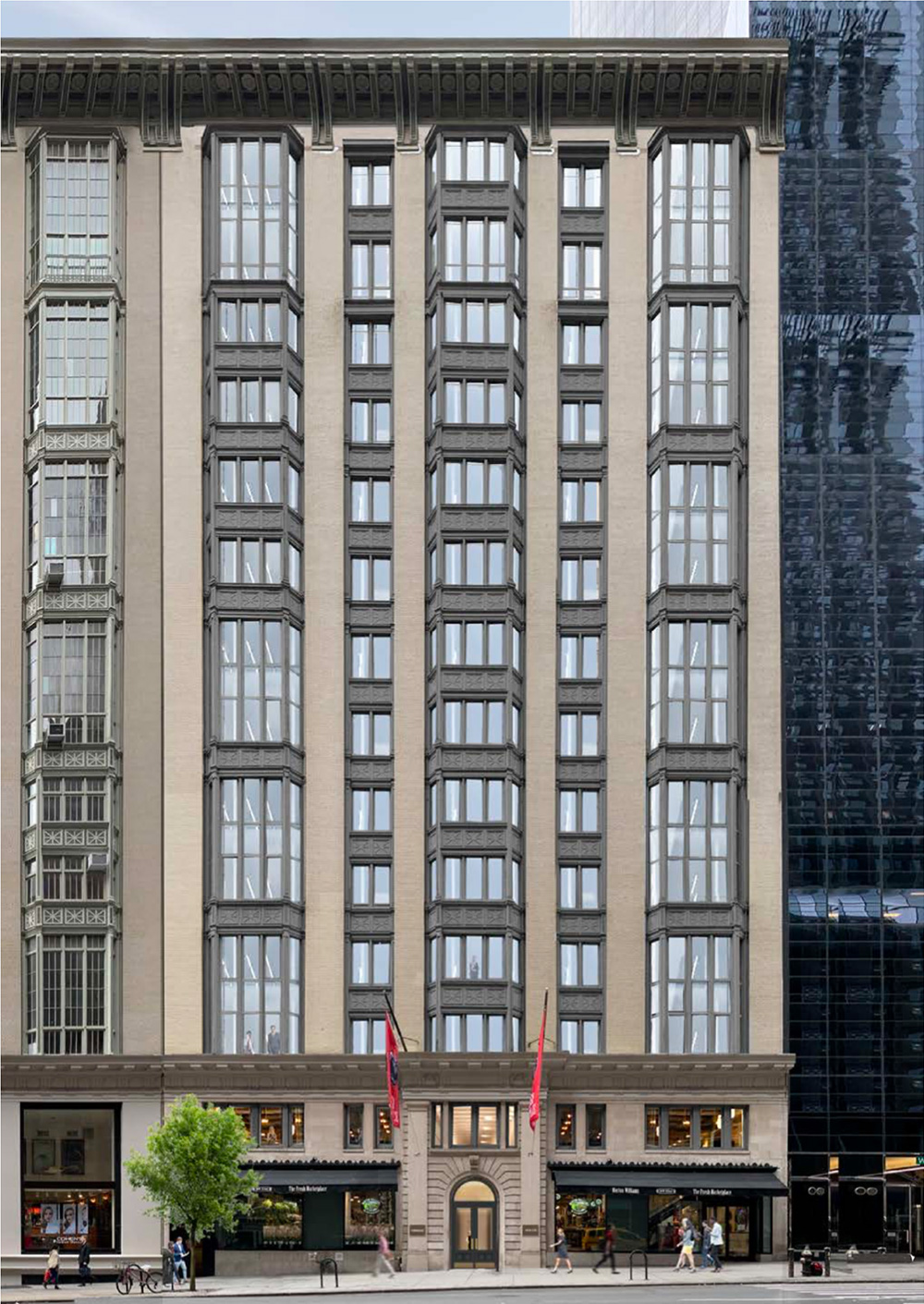 Proposed renderings of The Office Townhouse at 140 West 57th Street - MdeAS Architects