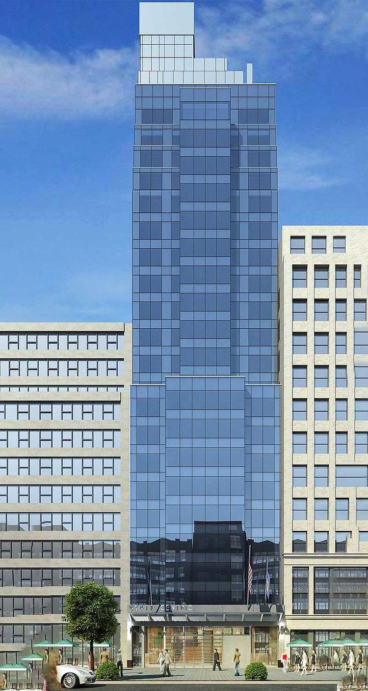 Rendering Hyatt Centric 39th & 5th / 16 East 39th Street - Gene Kaufman Architect