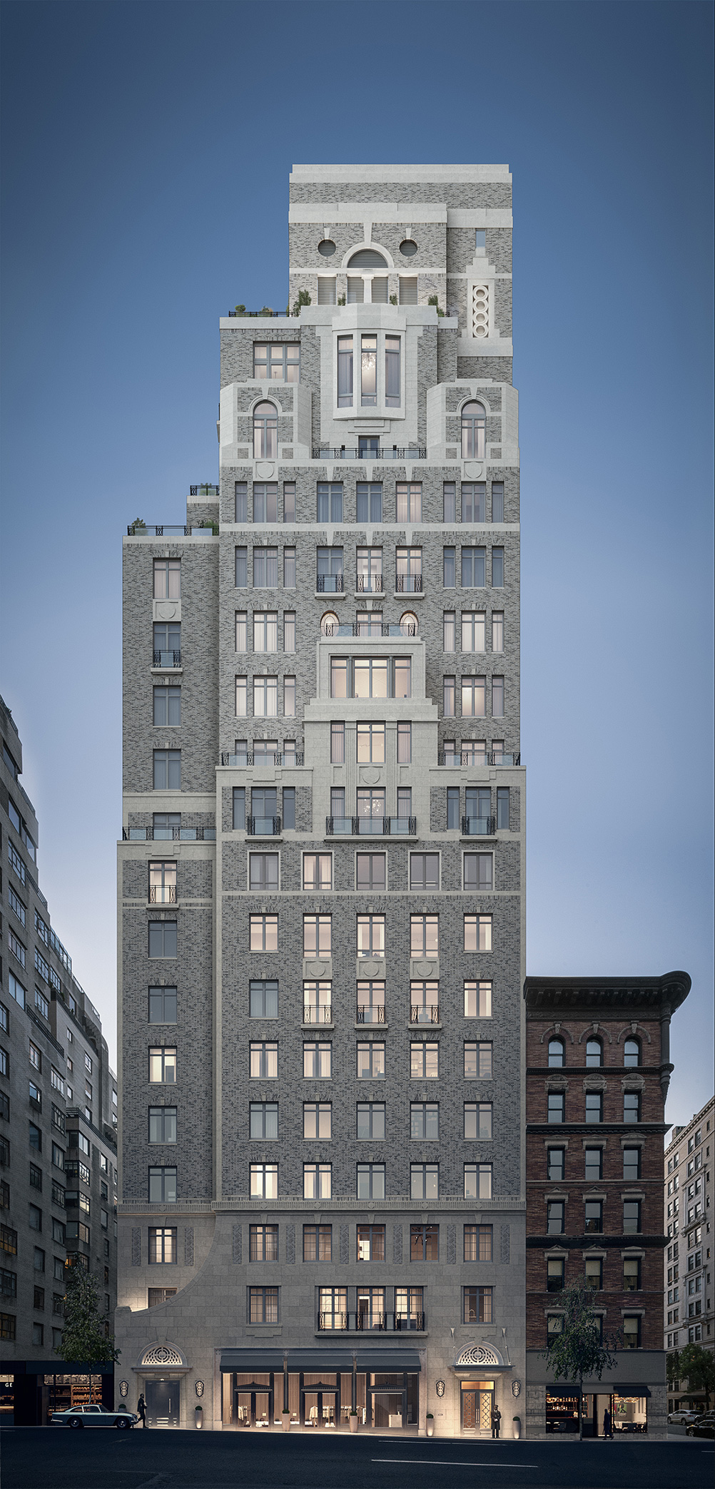 Rendering of 1228 Madison - Illustration by Grain London