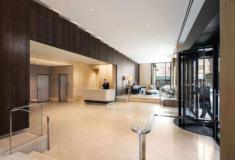 Renovated lobby at Gracie Mews - Photo by Pavel Bendov