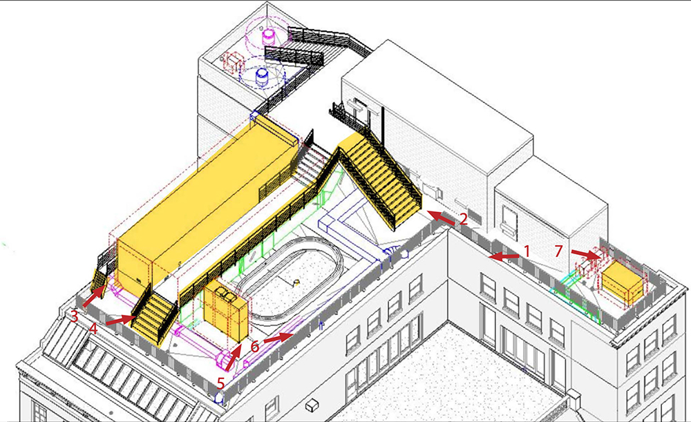Rooftop Plan at 706 Madison Avenue / Hermès - LPC
