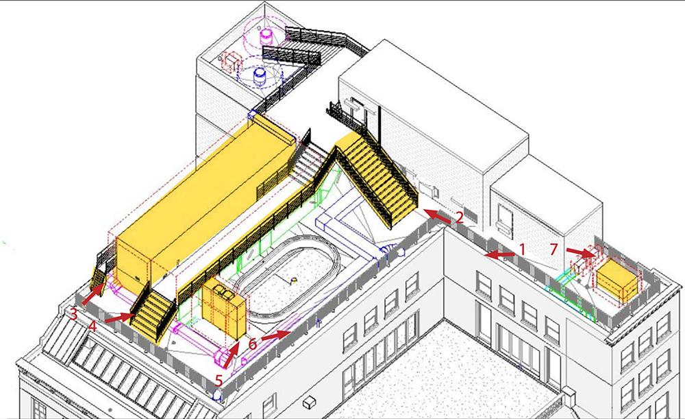 Rooftop Plan at 706 Madison Avenue / Hermès - LPC