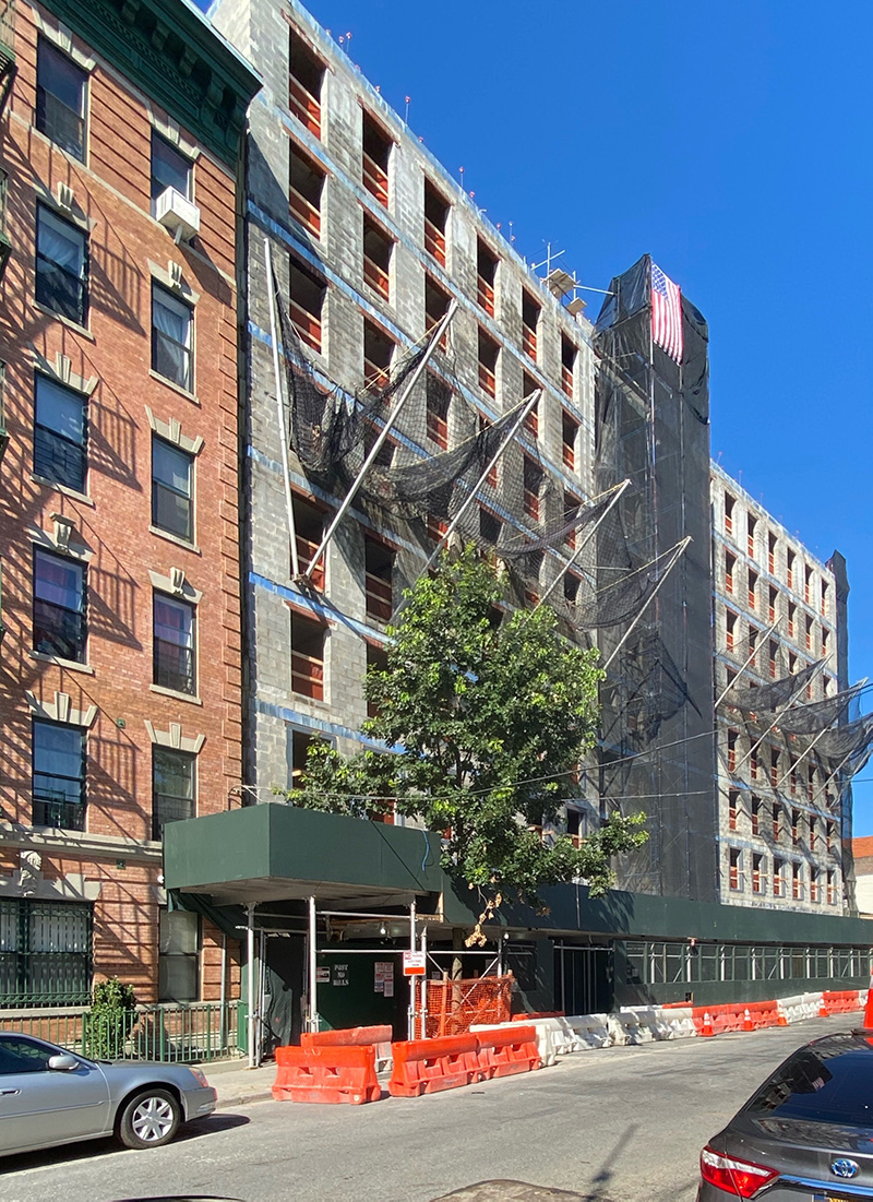 View of construction at 'Betances' _ 445 East 142nd Street - Breaking Ground