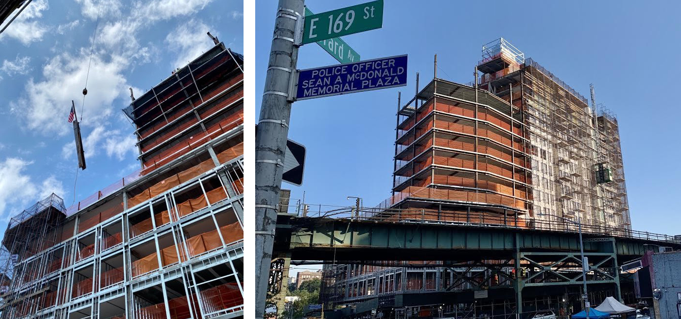 Construction images of 1325 Jerome Avenue (formerly 1331 Jerome Avenue) - The Doe Fund