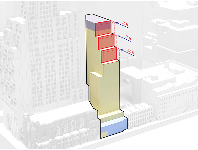 Diagram illustrates upper level of 130 Saint Felix Street