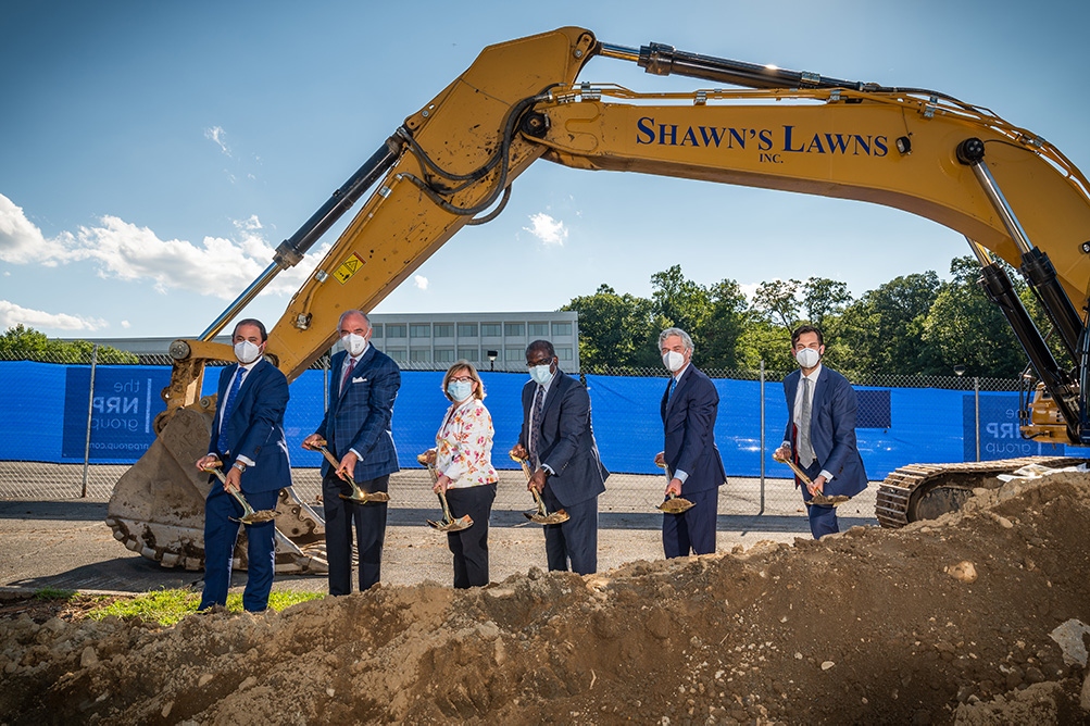 Groundbreaking event at 1133 Westchester Avenue