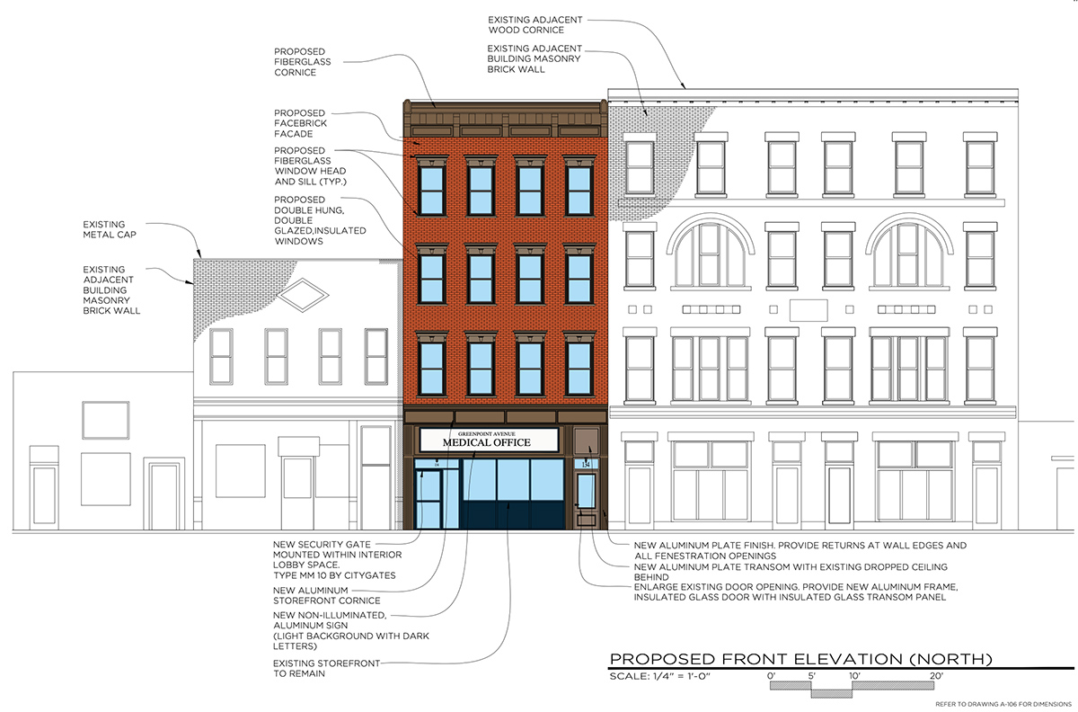 Proposed renovations at 134 Greenpoint Avenue - Atelier Adam Jakubowski