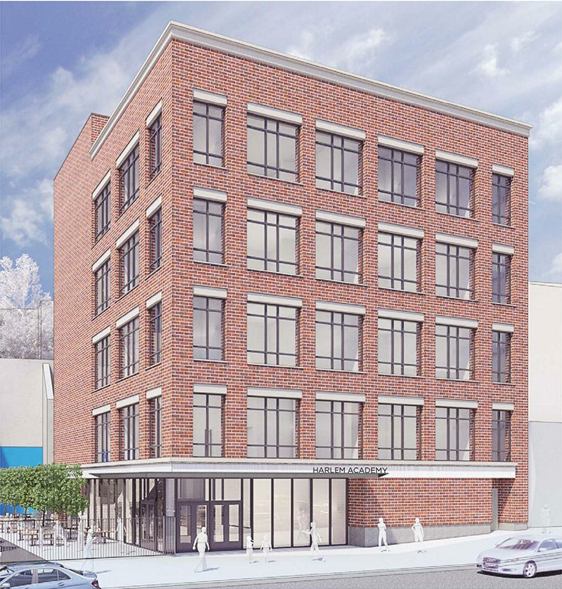 Rendering of the new Harlem Academy building at 655 St. Nicholas Avenue - Perkins Eastman