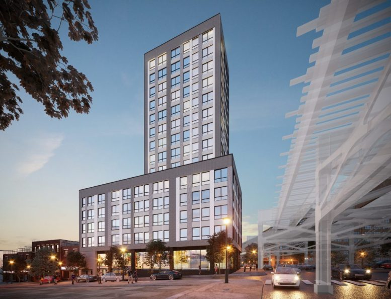 Rendering of 1325 Jerome Avenue (formerly 1331 Jerome Avenue) - GF55 Partners; The Doe Fund