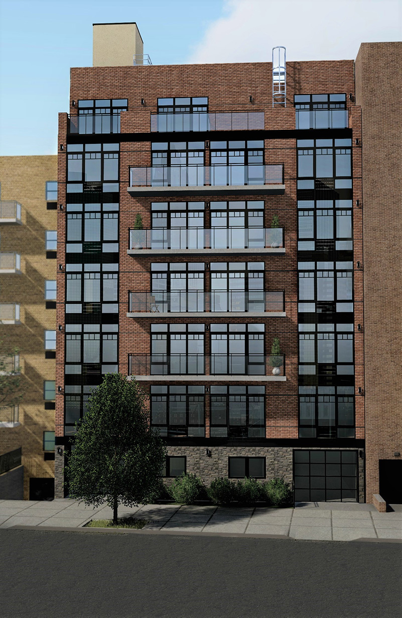 Rendering of 31-27 Crescent Street - Costa Architecture and Engineering