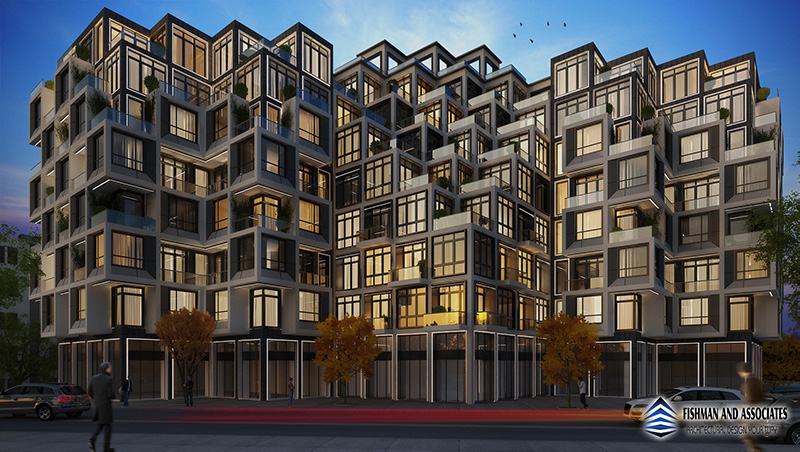 Evening rendering of 406 Remsen Avenue - Asher Hershkowitz Architect